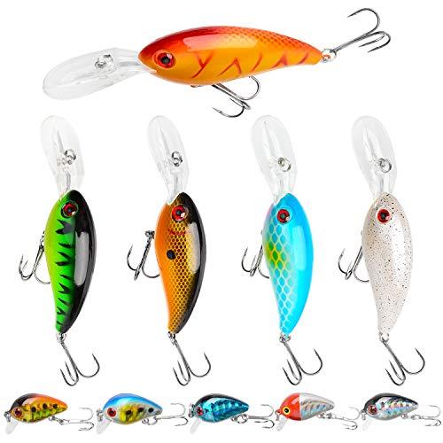 Crankbait Fishing5 PCS Topwater Bass Lures