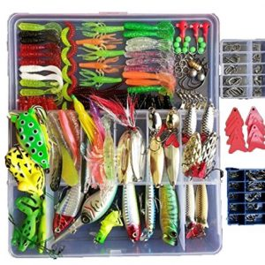 Smartonly 275pcs Fishing Lure Set